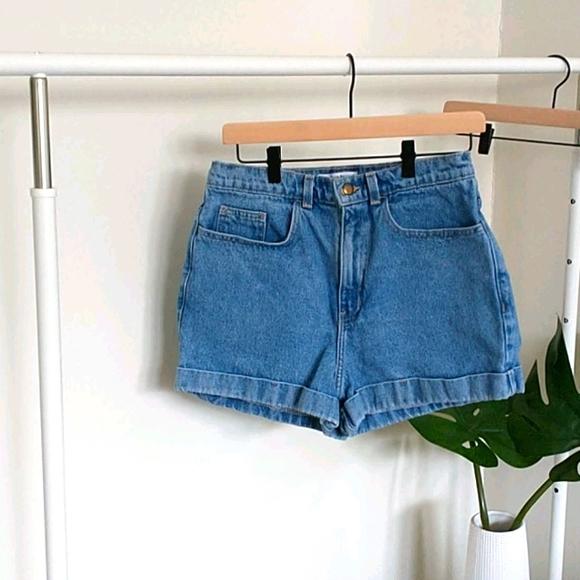 American Apparel high waist jean short